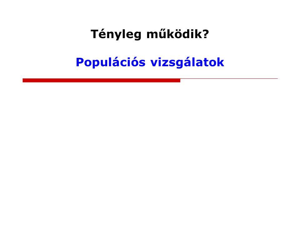 Tényleg működik Populációs vizsgálatok