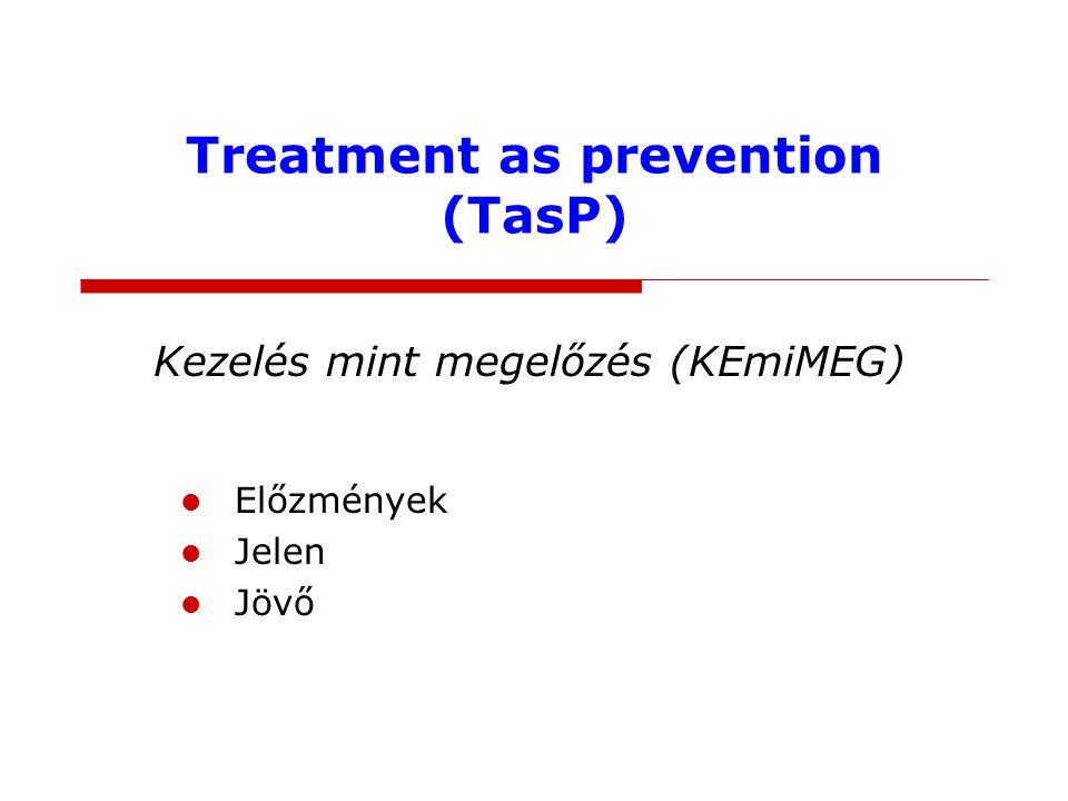 Treatment as prevention (TasP) Kezelés mint megelőzés (KEmiMEG) Előzmények Jelen Jövő
