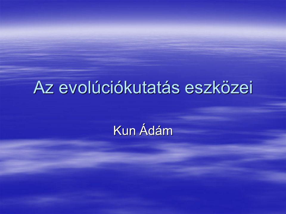Az evolúciókutatás eszközei Kun Ádám