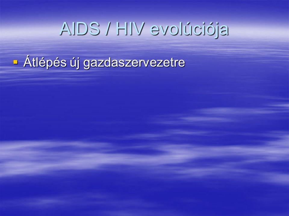 AIDS / HIV evolúciója  Átlépés új gazdaszervezetre