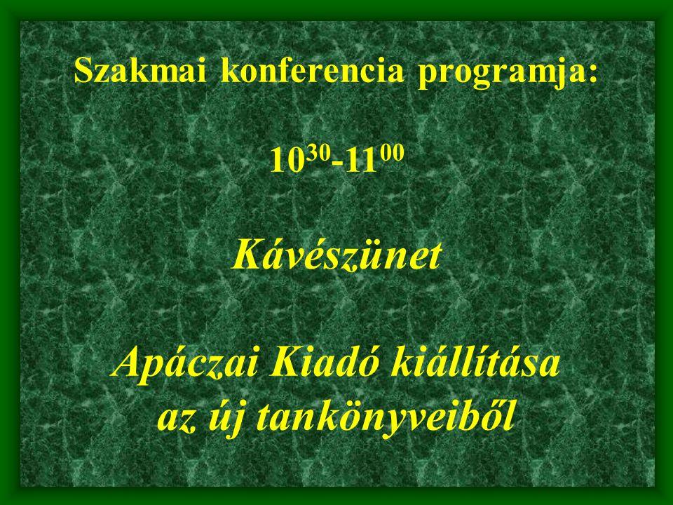 Szakmai konferencia programja: 11 00 -11 40 Varga Mária a Kormányhivatal Oktatási Főosztályának Vezetője Ellenőrzések a közoktatásban