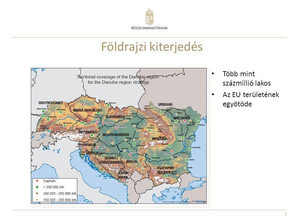 3 Földrajzi kiterjedés Több mint százmillió lakos Az EU területének egyötöde