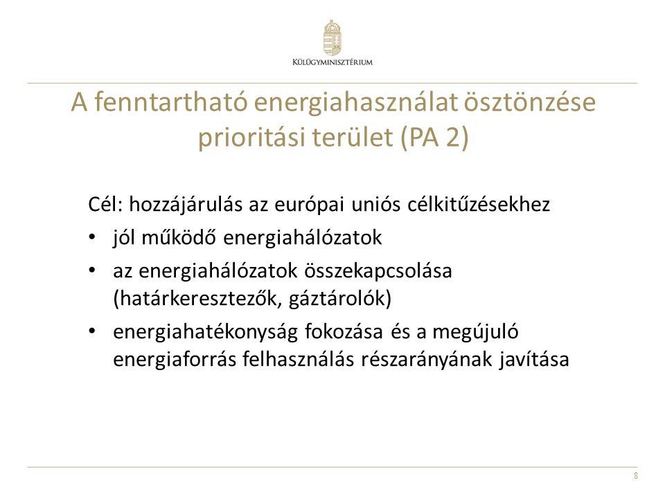 8 Cél: hozzájárulás az európai uniós célkitűzésekhez jól működő energiahálózatok az energiahálózatok összekapcsolása (határkeresztezők, gáztárolók) en
