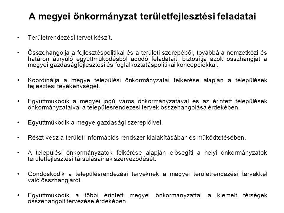 A magyar önkormányzati megyék – közöttük Fejér megye is – a megkapott új Önkormányzati Törvény és Területrendezésről szóló törvény alapján a feladat és hatáskörük átalakulásának jelenlegi szakaszában a következő feladatokat látják el: -Településenként és térségenként felmérjük a 2007-2013 Tervidőszakban Fejér megyében keletkezett, elindított, leszerződött, megvalósult, elutasított projekteket és számba vesszük az EU-s és a hazai kötelezettségeket.