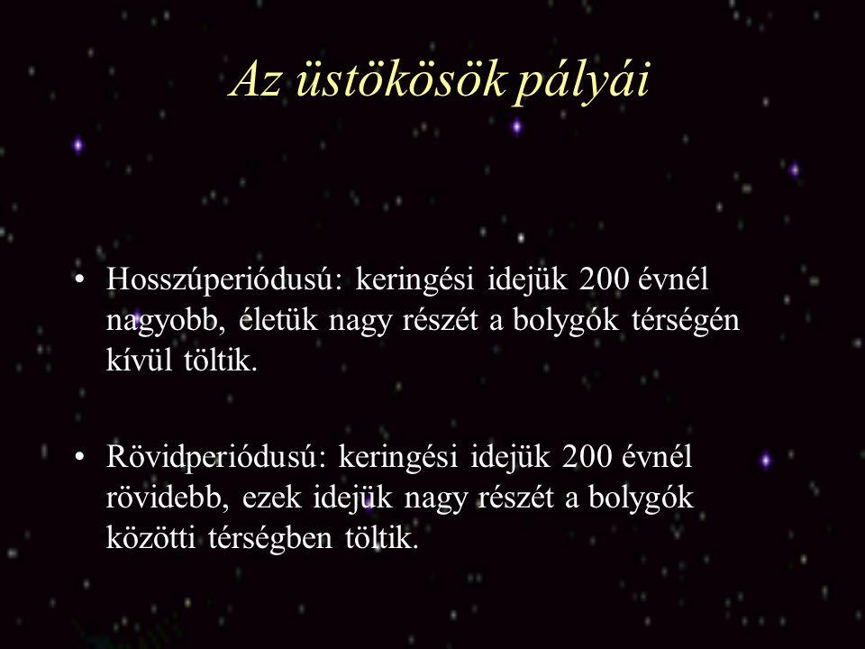 Az üstökösök pályái Az üstökösök pályája valamilyen kúpszelet.