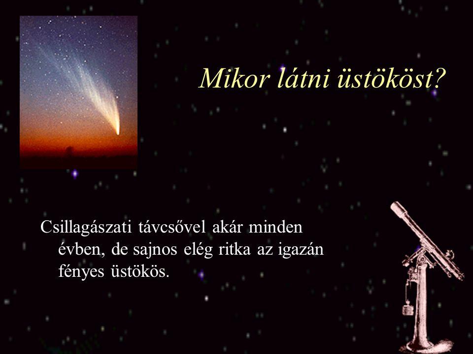 A hullócsillagok Egy-egy meteorraj egy-egy üstököshöz kapcsolható.
