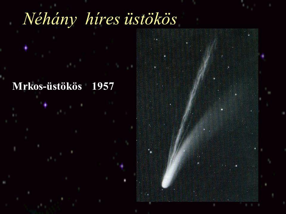 Miért kutatják az üstökösöket? Kis méretük miatt kicsi a gravitációs terük, ezért születésük óta nem fejlődtek A Naptól távol külső hatások is alig ér