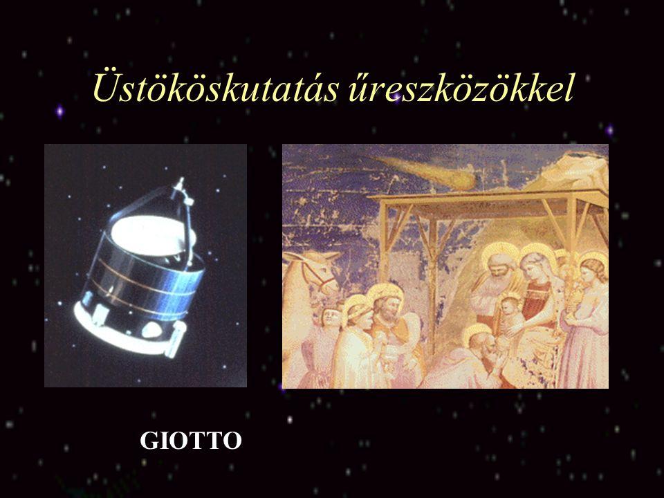 Üstököskutatás űreszközökkel A Halley üstökös magja