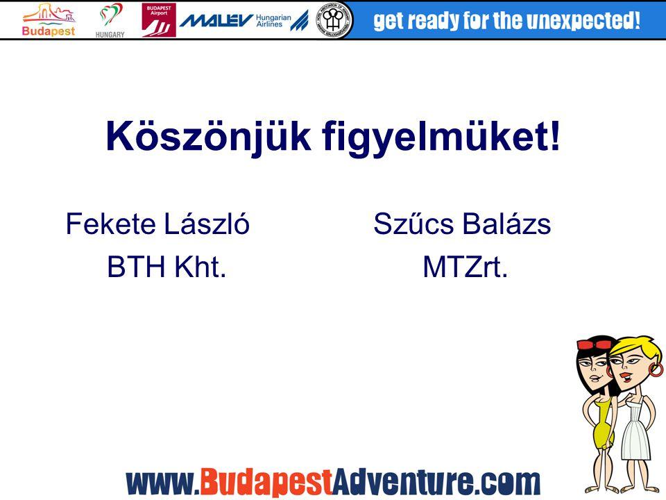 Köszönjük figyelmüket! Fekete LászlóSzűcs Balázs BTH Kht. MTZrt.