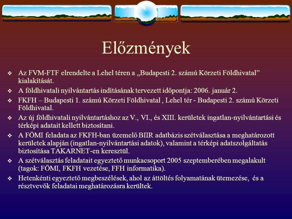 """Előzmények  Az FVM-FTF elrendelte a Lehel téren a """"Budapesti 2. számú Körzeti Földhivatal"""" kialakítását.  A földhivatali nyilvántartás indításának t"""