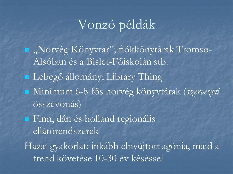 """Vonzó példák """"Norvég Könyvtár ; fiókkönytárak Tromsø- Alsóban és a Bislet-Főiskolán stb."""