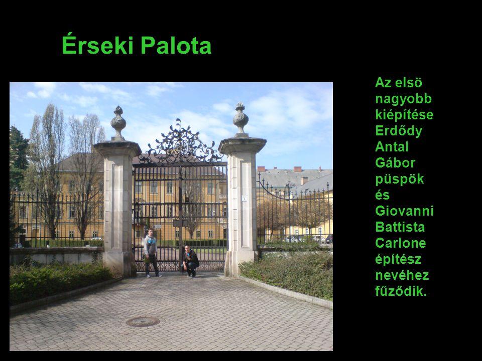 A Megyeháza és a Fazola kapu 1747 dec.határoztak arról, hogy állandó megye székház kell.