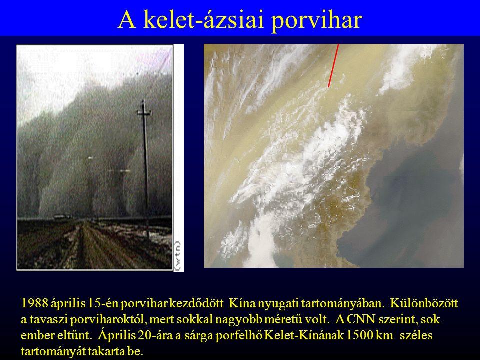 A kelet-ázsiai porvihar 1988 április 15-én porvihar kezdődött Kína nyugati tartományában.