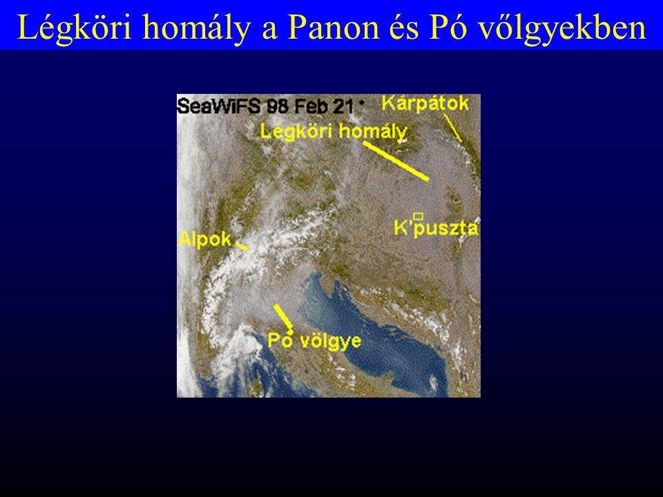 Légköri homály a Panon és Pó vőlgyekben