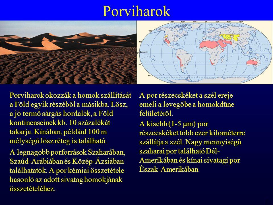 MTA 98 06 23 RBH Porviharok Porviharok okozzák a homok szállítását a Föld egyik részéből a másikba.