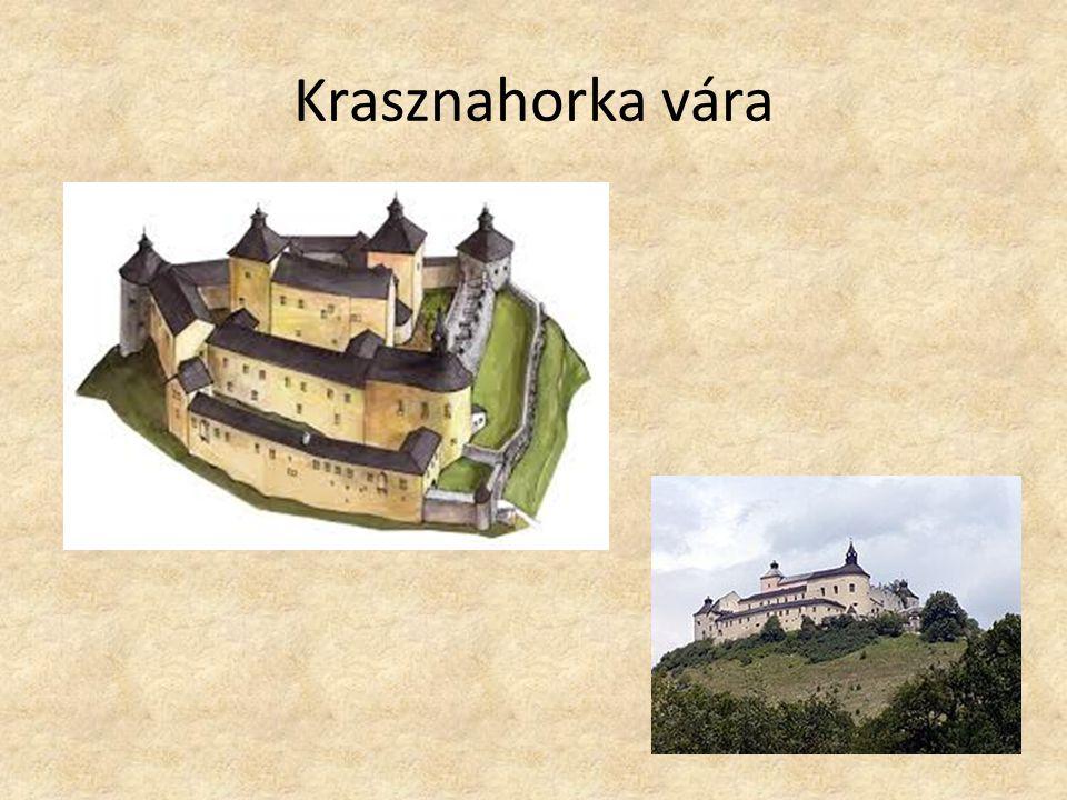"""Krasznahorka vára Mikszáth – """"gyönyörű erdőcske Lovagvár 1341-ben említik először A Rákóczi-szabadságharc idején a vár urai, az Andrássy testvérek közül öten csatlakoztak a kurucokhoz Krasznahorka büszke vára, ráborult az éj homálya."""