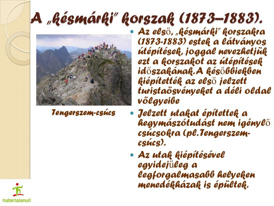 """A """"késmárki korszak (1873–1883)."""