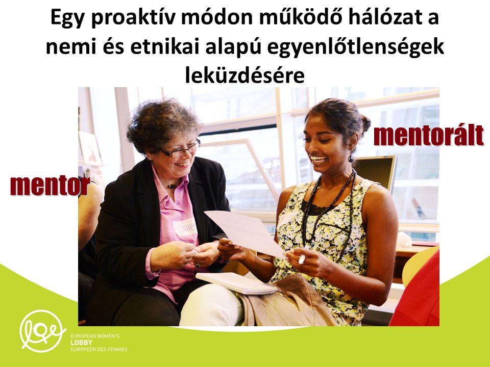 Egy proaktív módon működő hálózat a nemi és etnikai alapú egyenlőtlenségek leküzdésére mentorált mentor