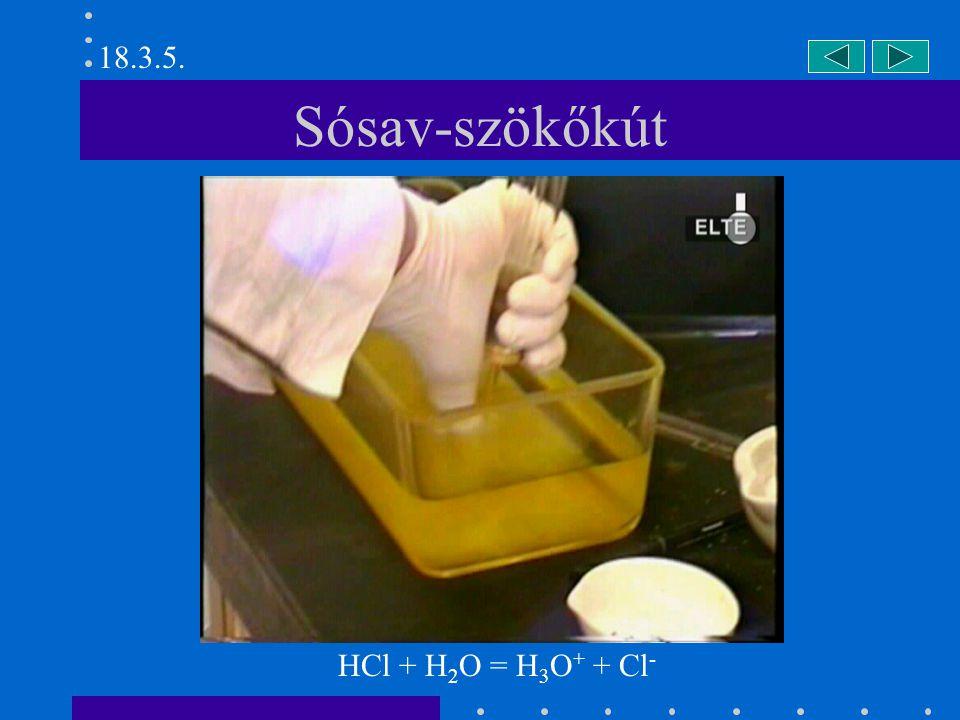 Cl 2 O előállítása 2 Cl 2 + 2 HgO = HgO  HgCl 2 + Cl 2 O 18.4.1.