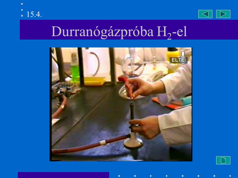 Durranógázpróba H 2 -el 15.4.