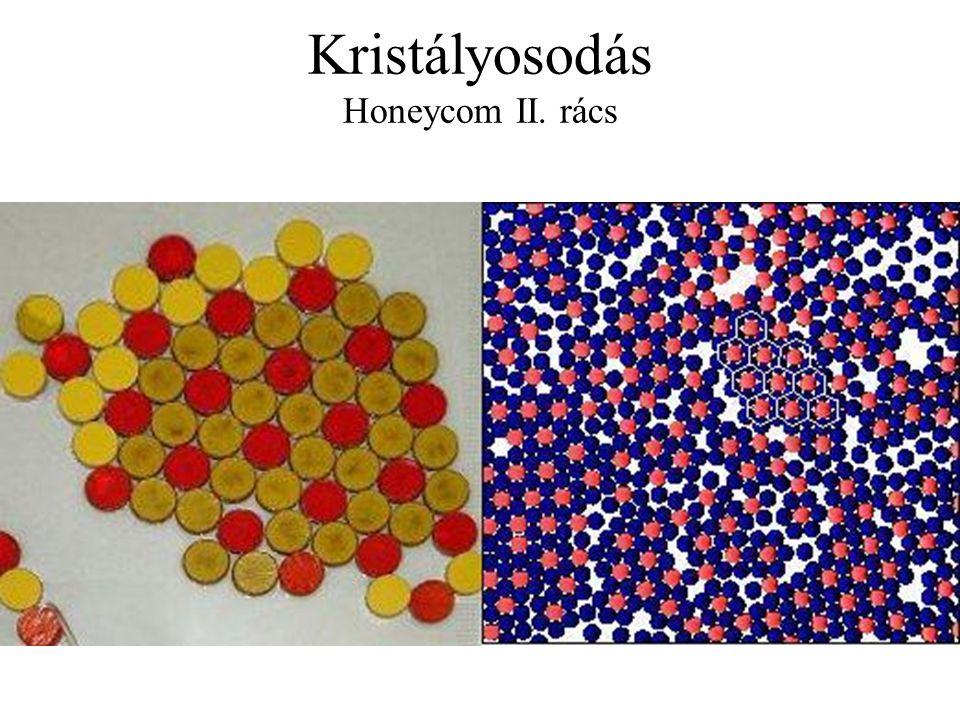 Kristályosodás Honeycom II. rács