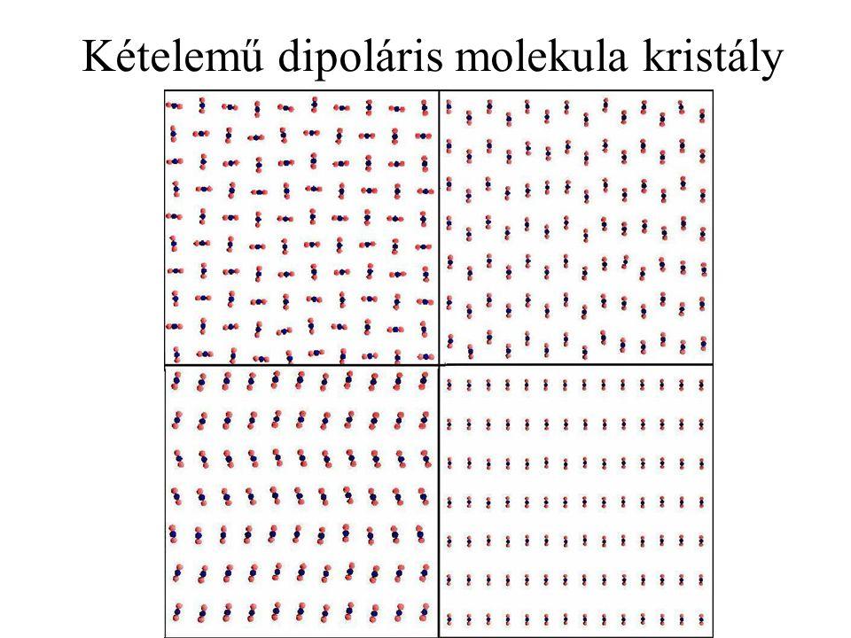 Kételemű dipoláris molekula kristály