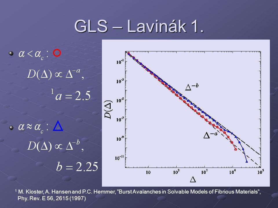 GLS – Lavinák 1. 1 M. Kloster, A. Hansen and P.C.