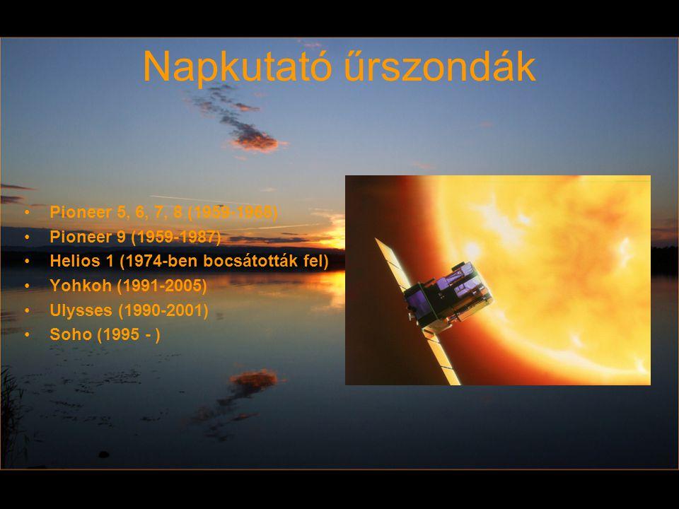 Napkutató űrszondák Pioneer 5, 6, 7, 8 (1959-1968) Pioneer 9 (1959-1987) Helios 1 (1974-ben bocsátották fel) Yohkoh (1991-2005) Ulysses (1990-2001) So