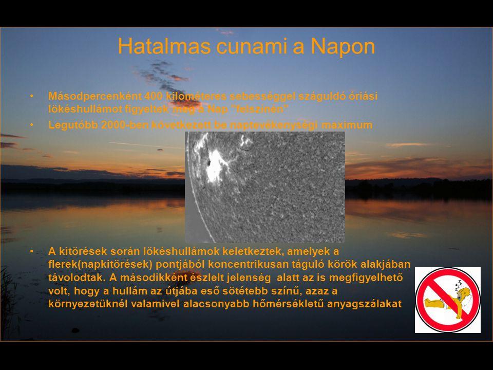 Hatalmas cunami a Napon Másodpercenként 400 kilométeres sebességgel száguldó óriási lökéshullámot figyeltek meg a Nap