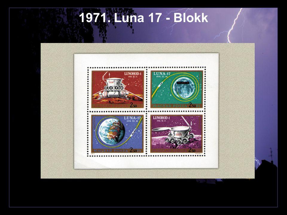1971. Luna 17 - Blokk