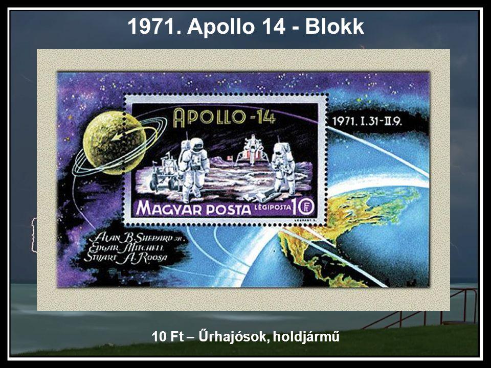 1971. Apollo 14 - Blokk 10 Ft – Űrhajósok, holdjármű