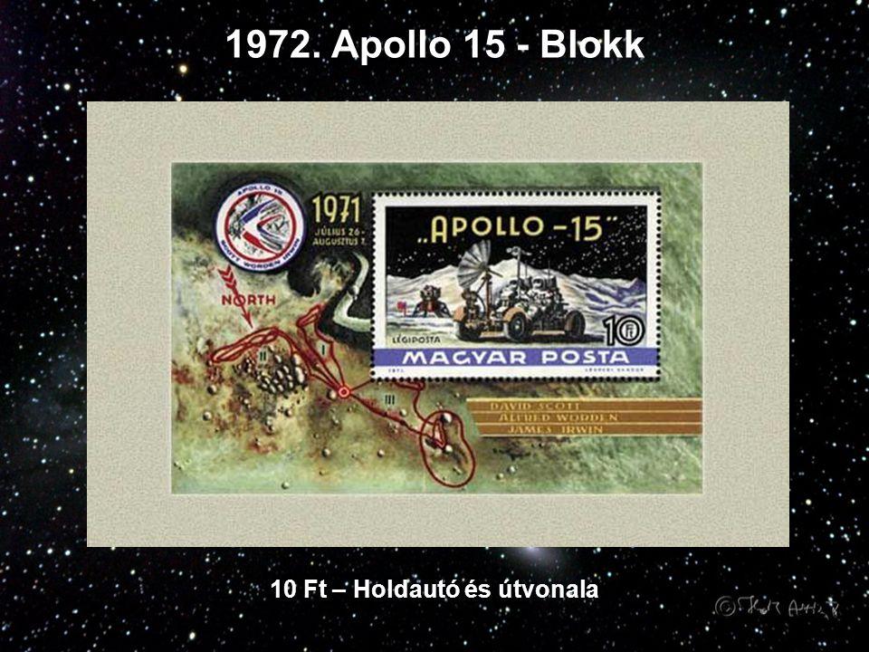 1972. Apollo 15 - Blokk 10 Ft – Holdautó és útvonala
