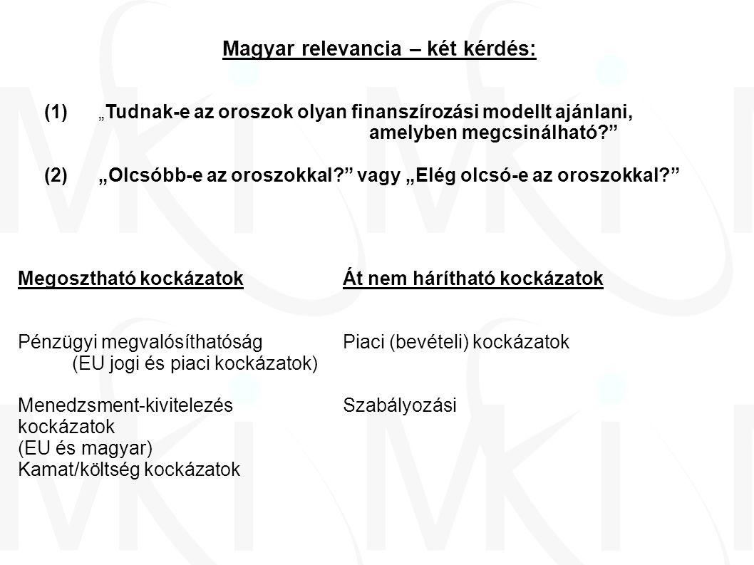 Pénzügyi megvalósíthatóság - 1 (1)Állami garancia és finanszírozás nélkül – Fennovoima-koncorcium Finanszírozás forrásaPéldaPot.
