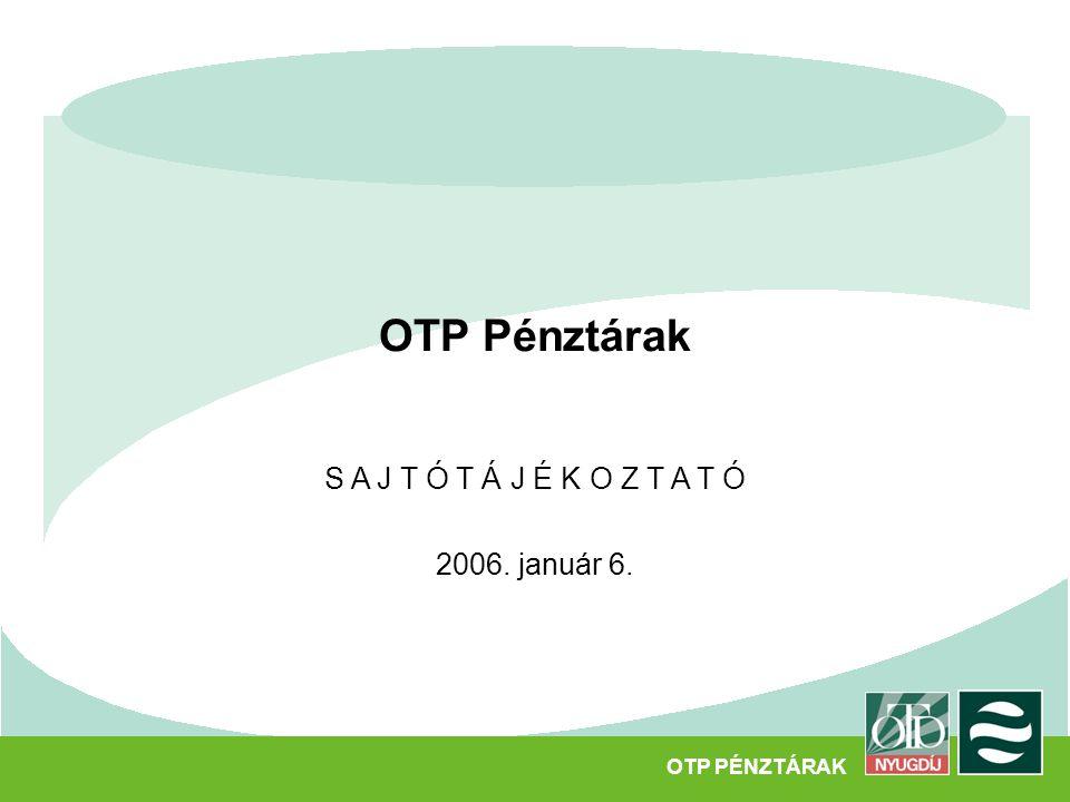 OTP Pénztárak S A J T Ó T Á J É K O Z T A T Ó 2006. január 6. OTP PÉNZTÁRAK