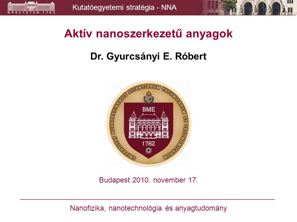 Aktív nanoszerkezetű anyagok Dr. Gyurcsányi E. Róbert Budapest 2010. november 17. Nanofizika, nanotechnológia és anyagtudomány Kutatóegyetemi stratégi
