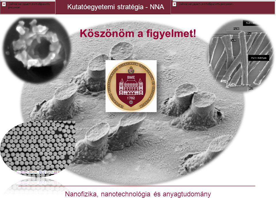 Köszönöm a figyelmet! Kutatóegyetemi stratégia - NNA Nanofizika, nanotechnológia és anyagtudomány