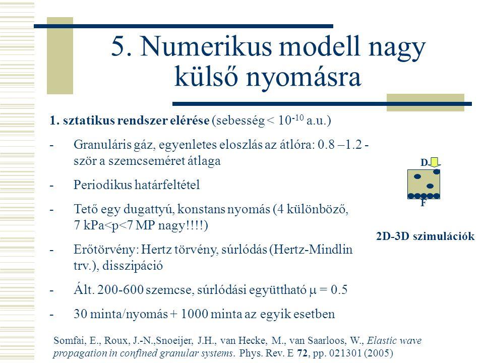 F D 5. Numerikus modell nagy külső nyomásra 1.