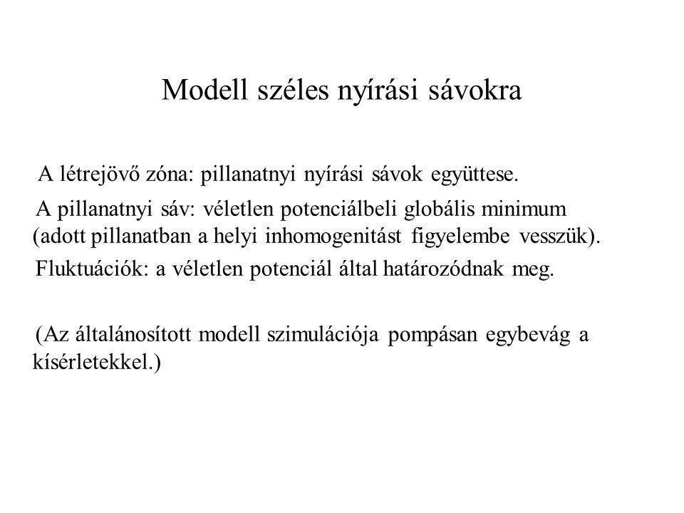 Modell széles nyírási sávokra A létrejövő zóna: pillanatnyi nyírási sávok együttese.