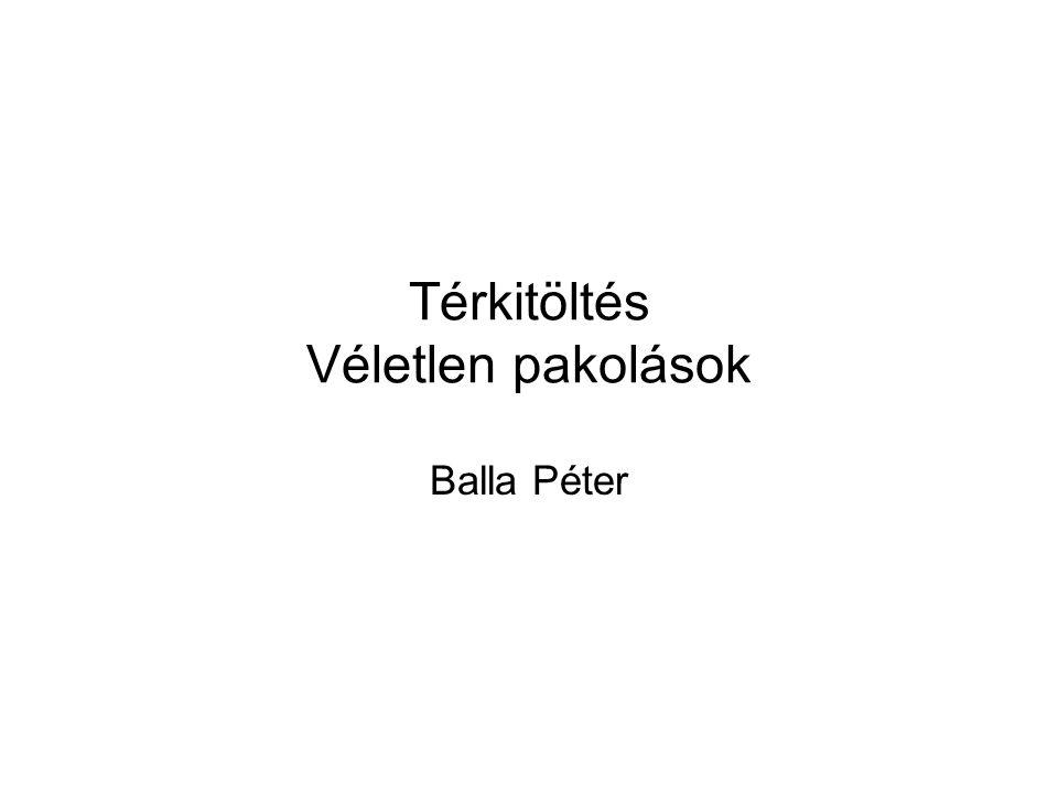 Térkitöltés Véletlen pakolások Balla Péter