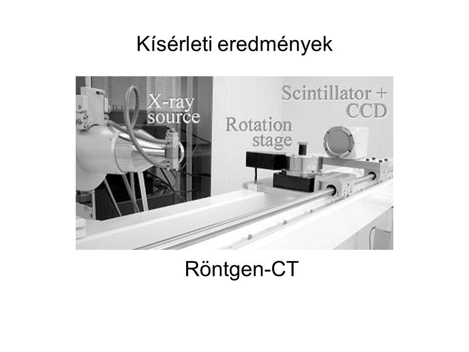 Kísérleti eredmények Röntgen-CT