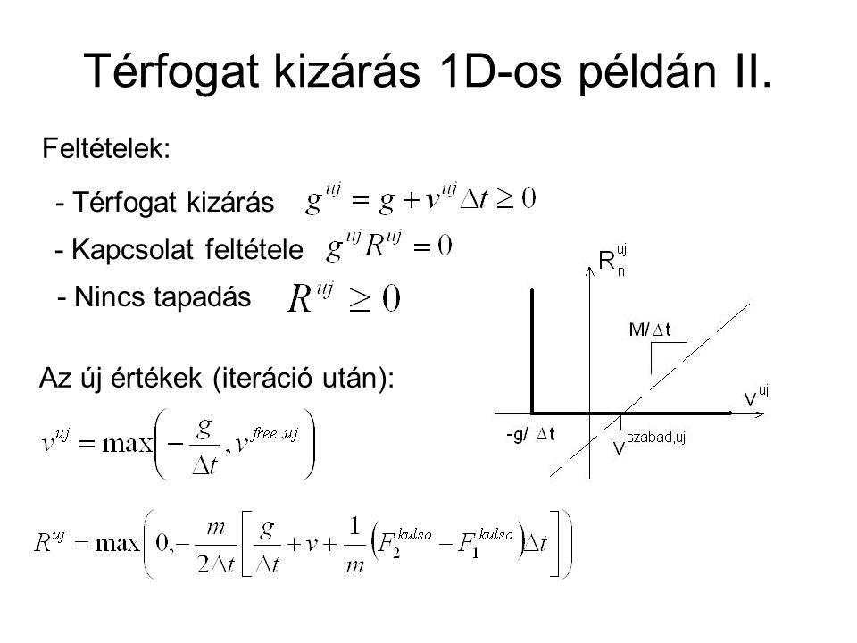Térfogat kizárás 1D-os példán II.
