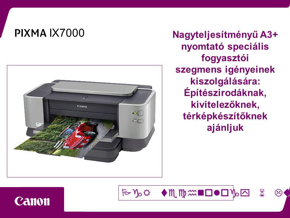 PIXMA IX7000 Nagyteljesítményű A3+ nyomtató speciális fogyasztói szegmens igényeinek kiszolgálására: Építészirodáknak, kivitelezőknek, térképkészítőknek ajánljuk 