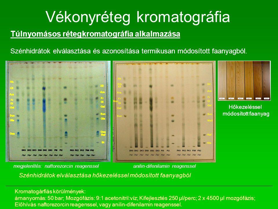 Túlnyomásos rétegkromatográfia alkalmazása Szénhidrátok elválasztása és azonosítása termikusan módosított faanyagból. Hőkezeléssel módosított faanyag