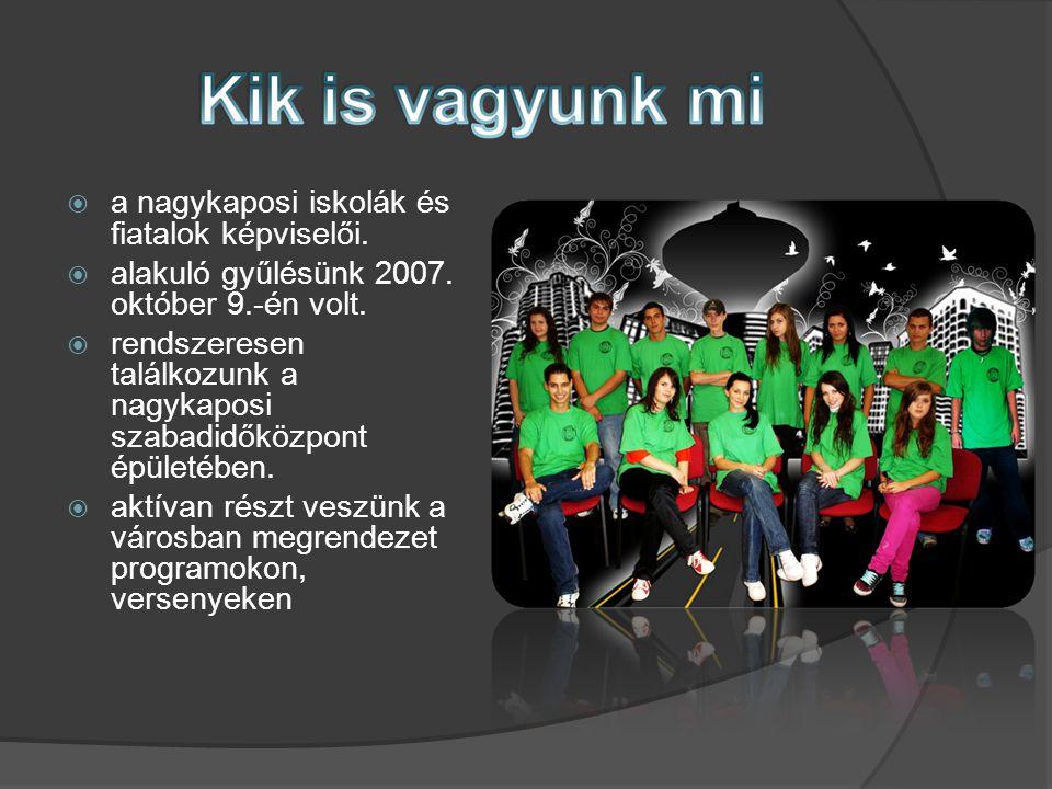  a nagykaposi iskolák és fiatalok képviselői.  alakuló gyűlésünk 2007.
