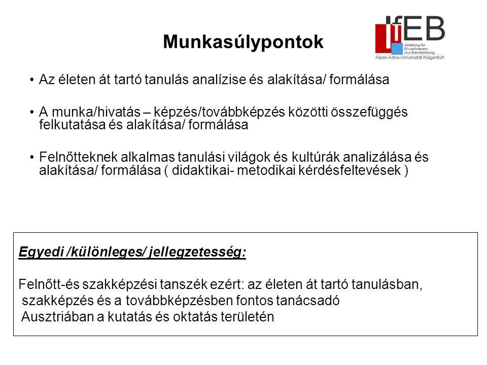 Munkatársaink Intézetigazgató: Univ.-Prof.Mag. Dr.