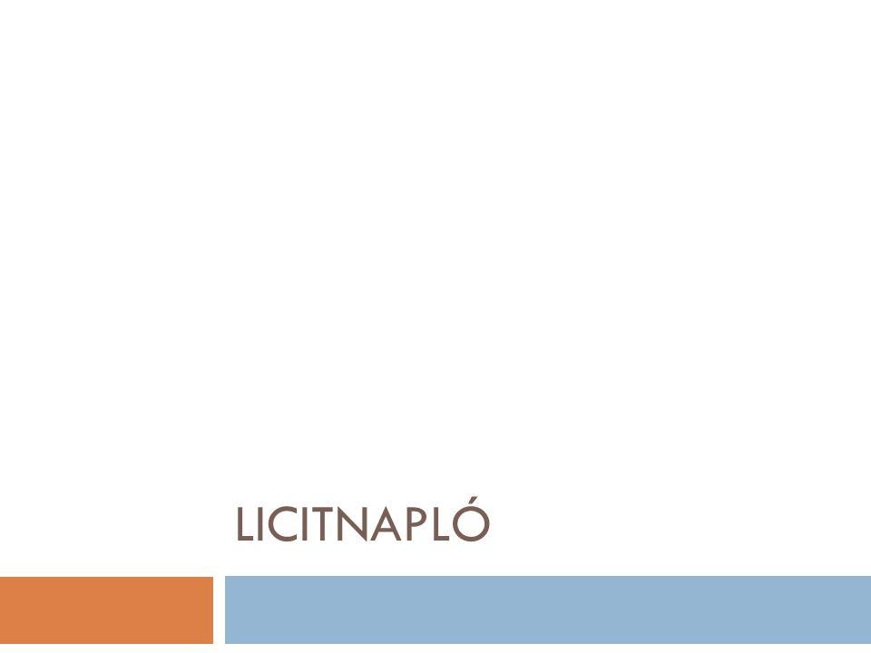 LICITNAPLÓ