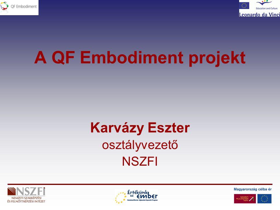 A QF Embodiment projekt Karvázy Eszter osztályvezető NSZFI