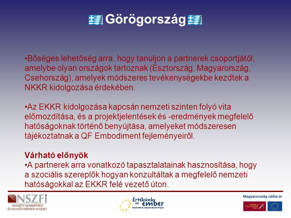Görögország Bőséges lehetőség arra, hogy tanuljon a partnerek csoportjától, amelybe olyan országok tartoznak (Észtország, Magyarország, Csehország), a