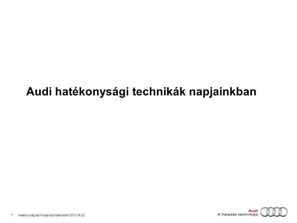 8Hatékonyság technikája sajtótájékoztató 2010.04.22.