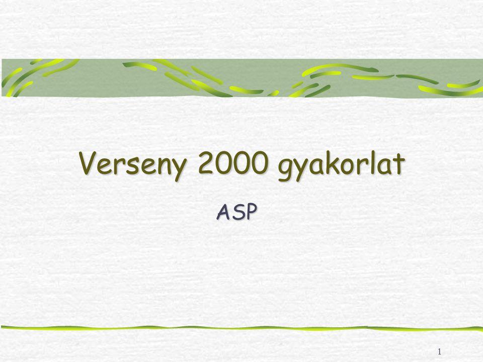 2 Gyakorlat Web létrehozása: Frontpage 2000 New Web: http://localhost/username http://localhost/usernamehttp://localhost/username index.html szerkesztése Normal nézet: XY iskola nyitóoldala (E) SQL 2000 Server